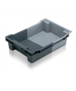 11018 Solid stack and nest container
