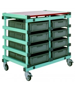 Double mobile tray rack