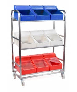 Stainless Steel trolley With 9 Ingredient bins - rotoXF8