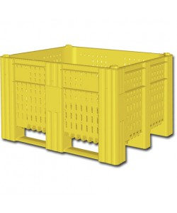 Perforated plastic pallet box