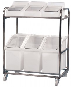Stainless Steel trolley With 6 Ingredient bins - rotoXF10