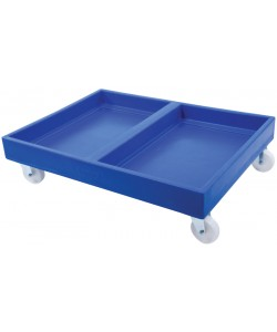 Double dolly with solid deck