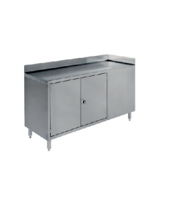 Large Stainless Steel workstation with cupboard