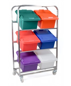 Stainless Steel Mobile Frame With 6 Boxes - rotoXFBR