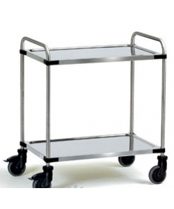 Stainless 2 Shelf Trolley SSTY2