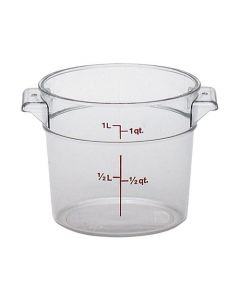 Polycarbonate Round Food Container 0.9 Litre - RFSCW1