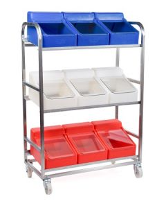 Stainless Steel Trolley with 9 Ingredient Bins – rotoXF8